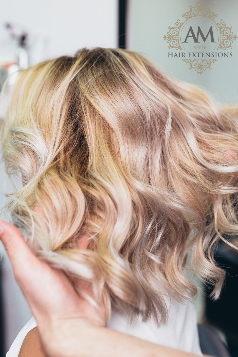 Short Hair Extensions with volume Northampton
